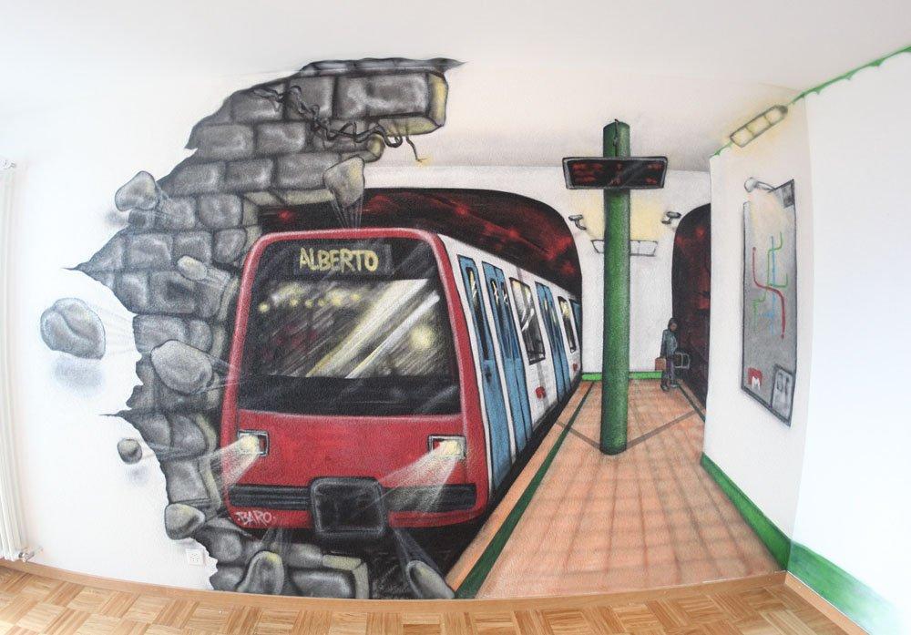 kinderzimmer | graffiti sprayer, Hause deko