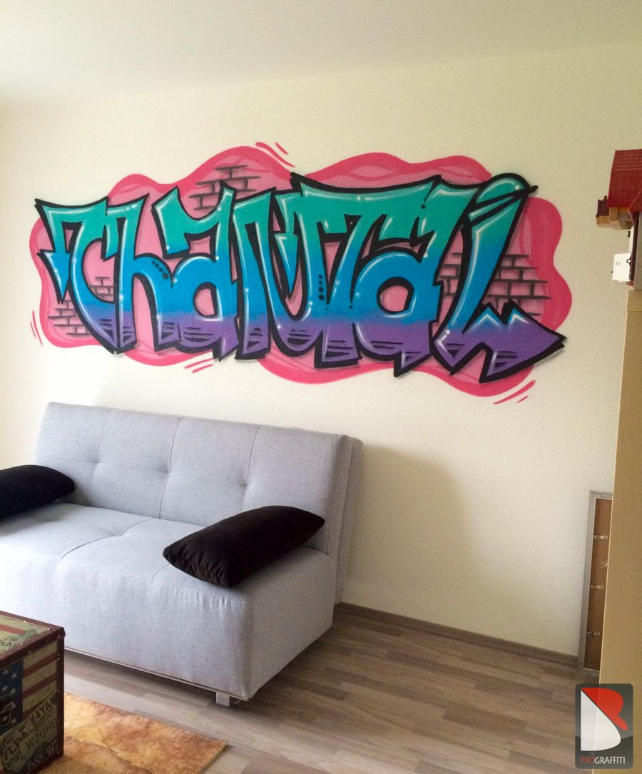 Chantal Graffiti Zimmer – Bern | Graffiti Künstler Pro.