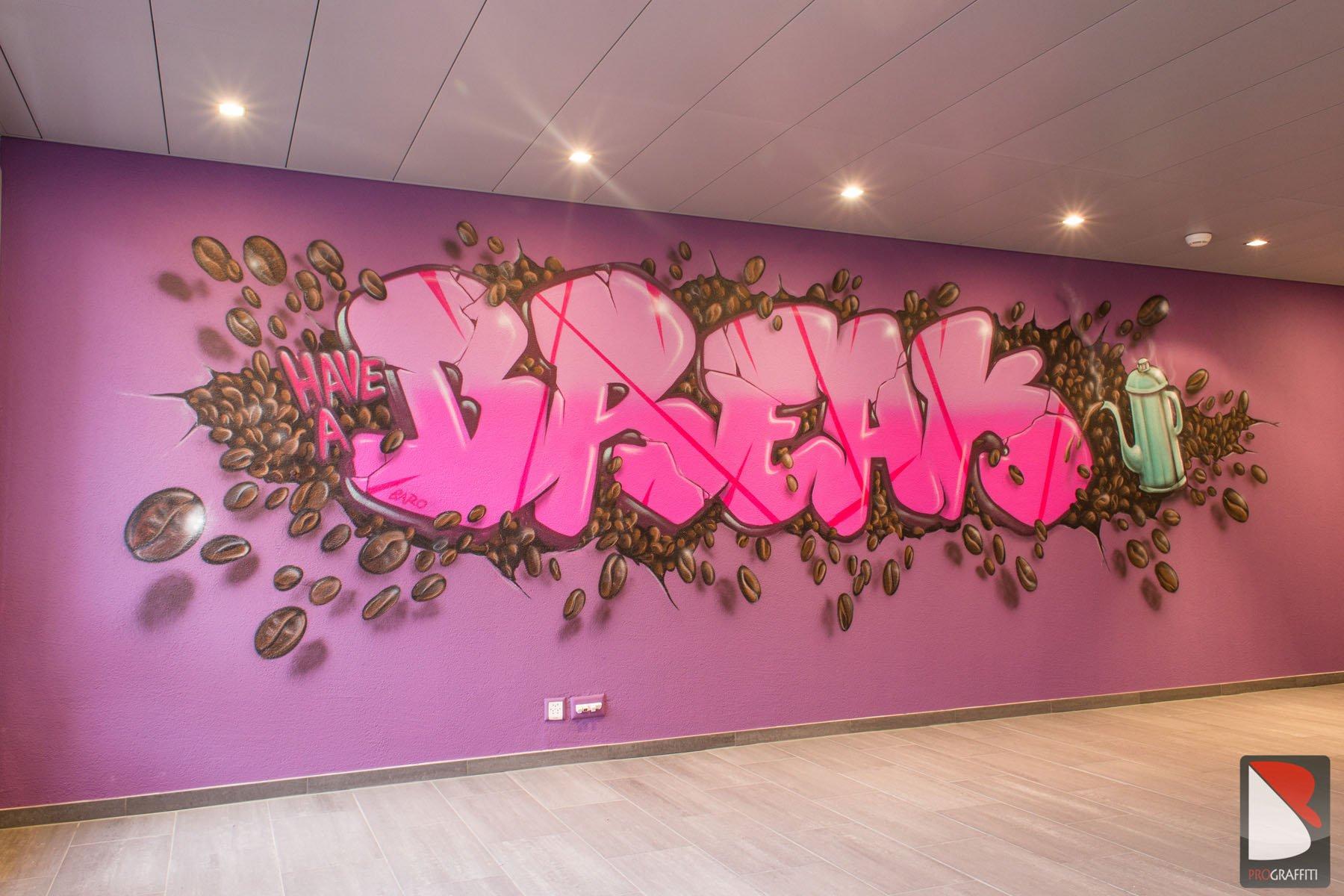 Cafeteria Raiffeisen Bank – Thun | Graffiti Künstler Pro.
