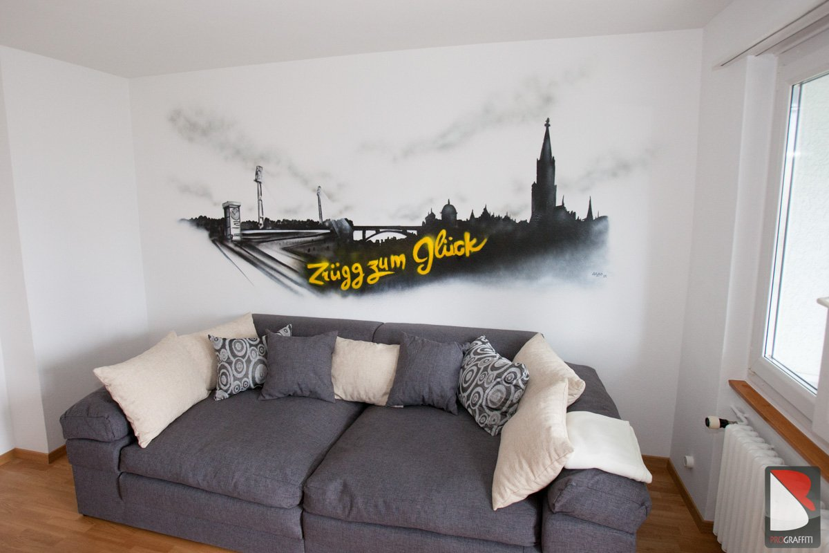 Skyline Bern Graffiti YB